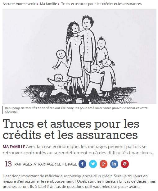 Capture article ma famille